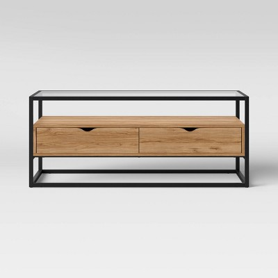 ada mixed material coffee table with glass top project 62