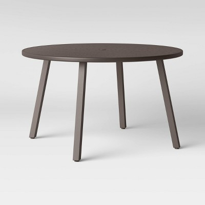 monroe 4 person round patio dining table brown threshold