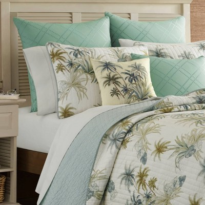 king serenity palms quilt aqua tommy bahama