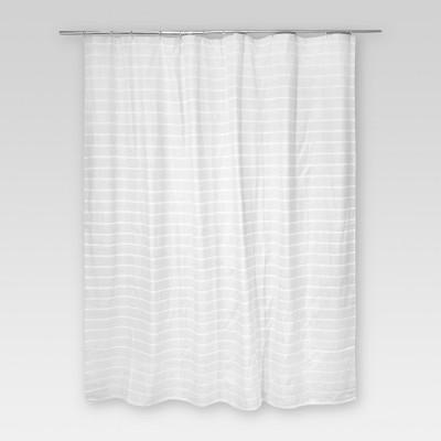 Light Stripe Shower Curtain GrayWhite Threshold Target
