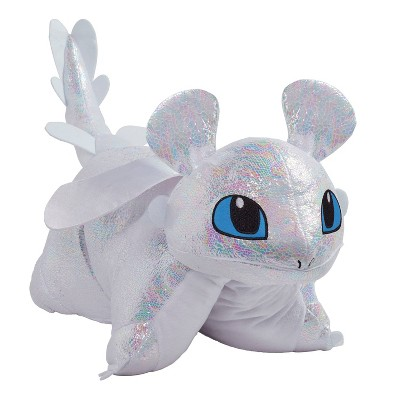 universal how to train your dragon light fury pillow pillow pets
