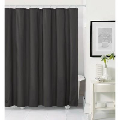kate aurora hotel heavy duty 10 gauge vinyl shower curtain liners black 72 x 72 standard shower curtain liner