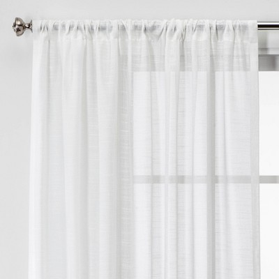 63 x54 open weave sheer window curtain panel white project 62