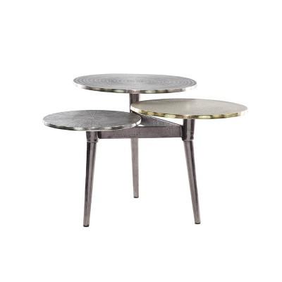 3 tier aluminum patio coffee table olivia may