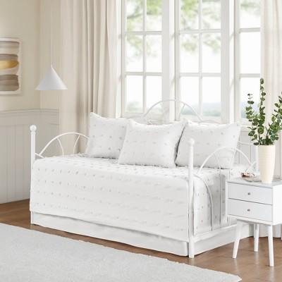 5pc kay cotton jacquard daybed set ivory