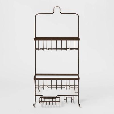 bathroom shower caddy bronze made by design