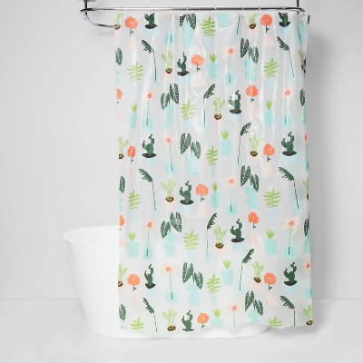 plants shower curtain green room essentials