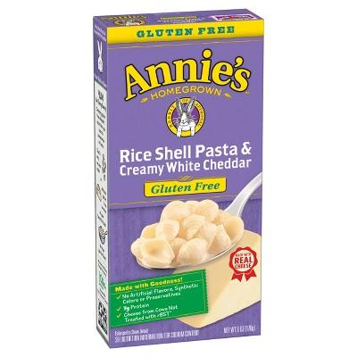 annie s gluten free rice shells creamy white cheddar 6oz