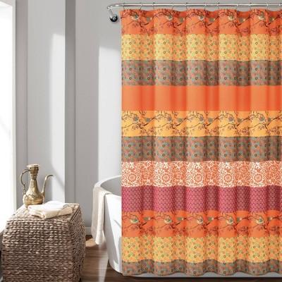 royal empire shower curtain orange lush decor