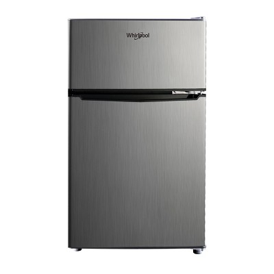 whirlpool 3 1 cu ft mini refrigerator stainless steel wh31s1e