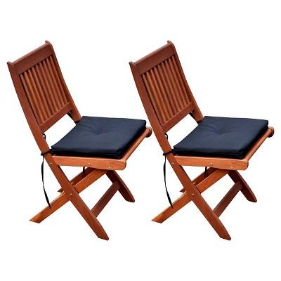 miramar hardwood outdoor folding chairs set of 2 cinnamon brown black corliving