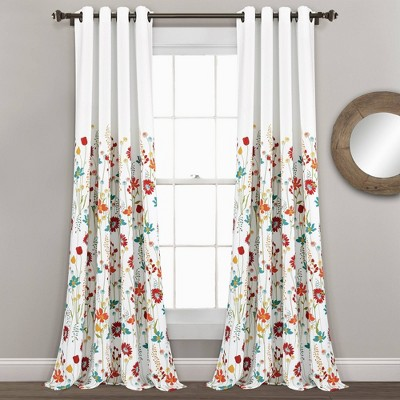 tangerine colored curtains target