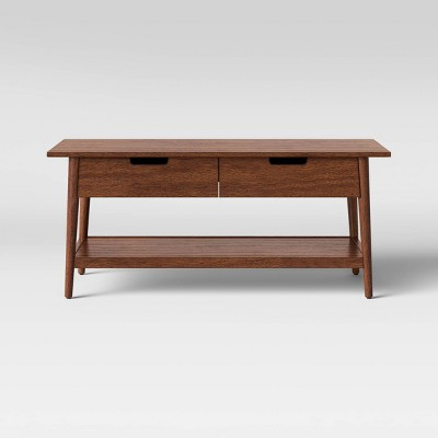 ellwood wood coffee table with drawers brown project 62