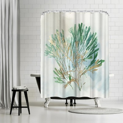 americanflat green coral iii by pi creative art 71 x 74 shower curtain