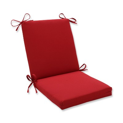 outdoor seat pad dining bistro cushion red