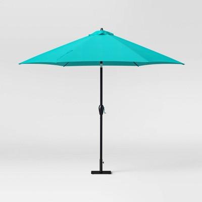 10 patio umbrella duraseason fabric turquoise threshold