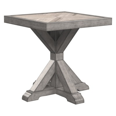 beachcroft square end table beige outdoor by ashley
