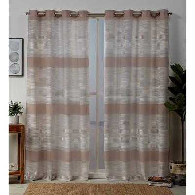 96 x54 kadomo grommet top light filtering window curtain panels blush pink exclusive home