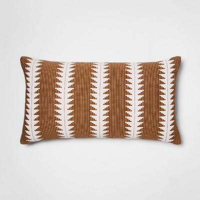 oversized woven global lumbar throw pillow tan threshold