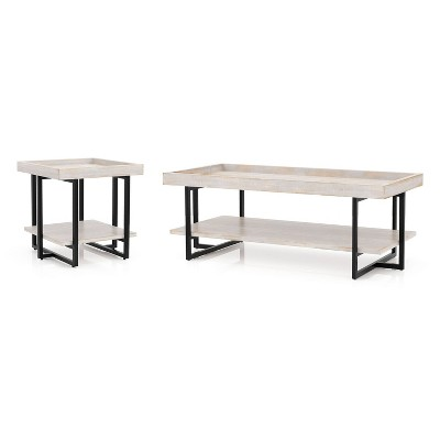 grislare coffee and end table set antique white homes inside out