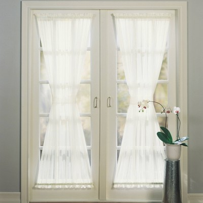 72 x59 emily voile rod pocket sheer door curtain panel ivory no 918
