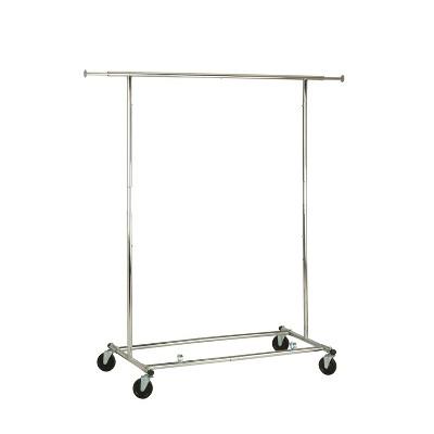 silver clothing racks portable
