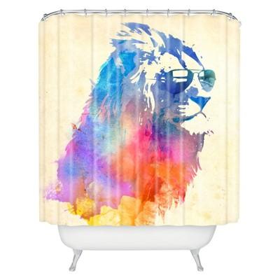 sunny leo sunglasses shower curtain blue purple cream deny designs