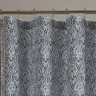 talca shower curtain blue jessica simpson