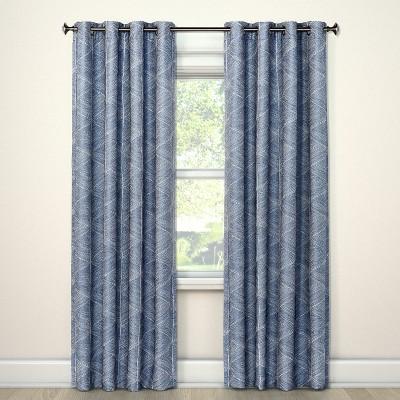 84 x50 blackout curtain panel modern stroke blue project 62