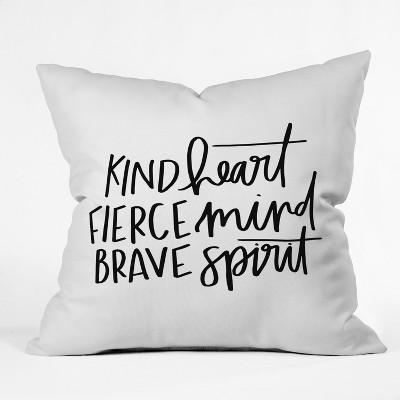 black white quote throw pillow deny designs