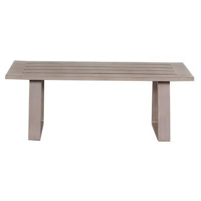 aruba patio aluminum frame coffee table gray teva patio furniture