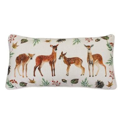 deer trio lumbar throw pillow decor therapy