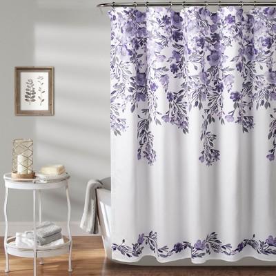 tanisha shower curtain purple lush decor