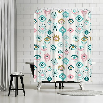 turquoise shower curtains target