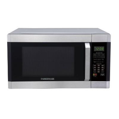 faberware 1 6 cu ft microwave oven with smart sensor silver