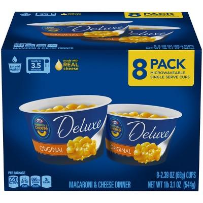 kraft deluxe mac cheese cups 8pk 19 12oz