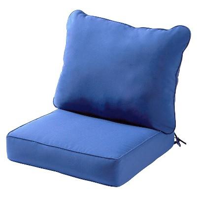 2pc solid outdoor deep seat cushion set marine kensington garden