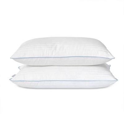 eluxury medium density hypoallergenic down alternative pillow 2 pack standard