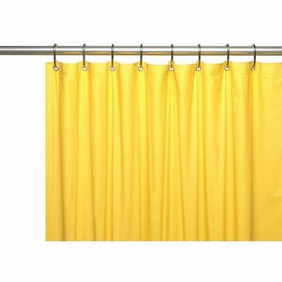 kate aurora hotel heavy duty 10 gauge vinyl shower curtain liners neon yellow 72 x 72 standard shower curtain liner