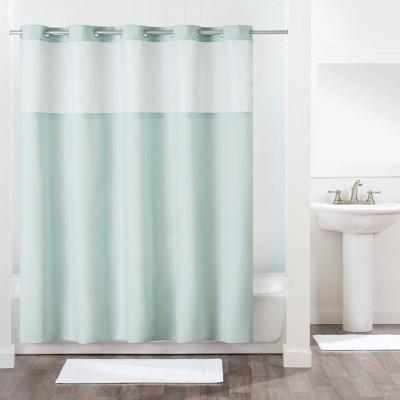antigo shower curtain with fabric liner aqua hookless