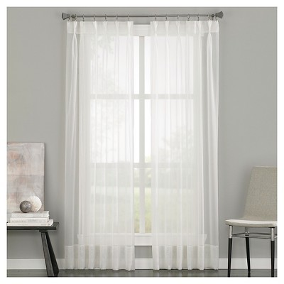 84 x29 soho voile pinch pleat sheer curtain panel off white curtainworks