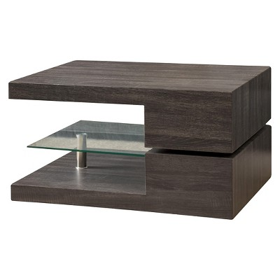michael rectangular rotating coffee table black oak christopher knight home