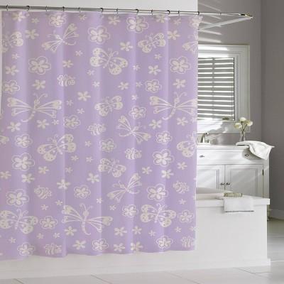 mariposa shower curtain purple cassadecor