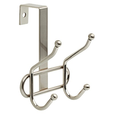 over the door double decorative hook rack nickel room essentials