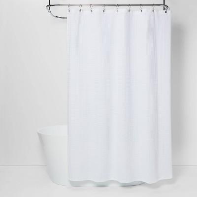 72 x72 waffle weave shower curtain white threshold