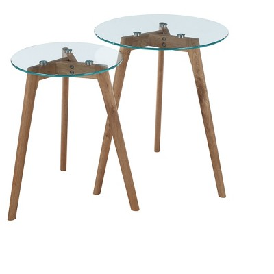 clearview nesting round end tables natural breighton home