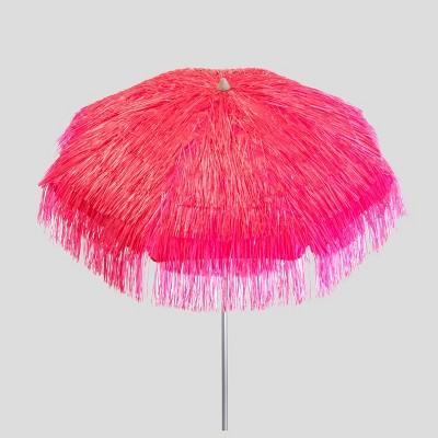 6 tropical palapa patio umbrella pink parasol