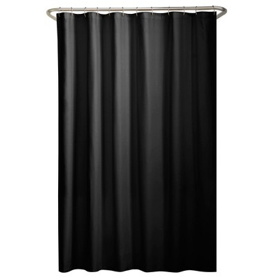 water repellant fabric shower liner black zenna home