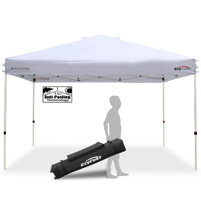 ezyfast 14 x 10 foot large outdoor waterproof pop up canopy for rain or shine w carry bag white