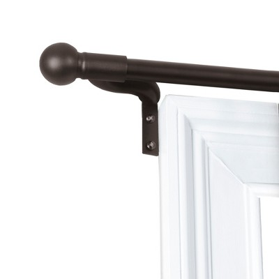 18 48 easy install cafe window rod bronze smart rods